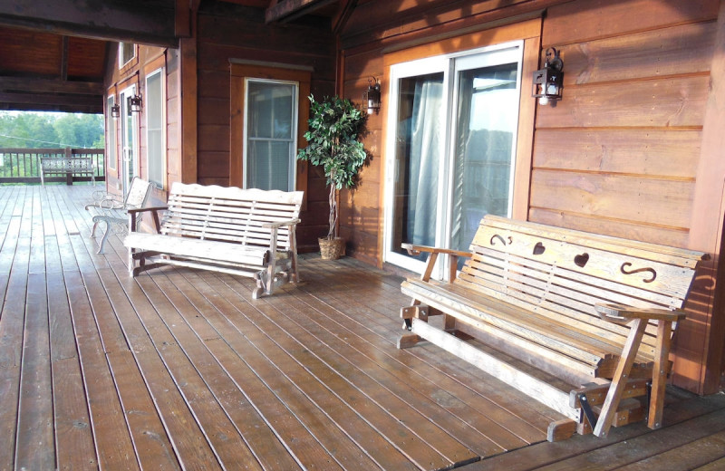 Upper Level Deck with beautiful lake view.