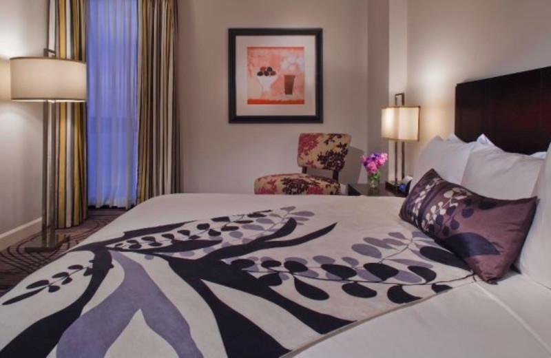 Guest room at La Torretta Lake Resort.
