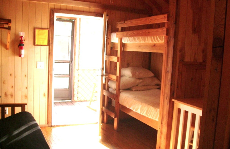 Cabin bunk beds at Navarre Beach Campground.