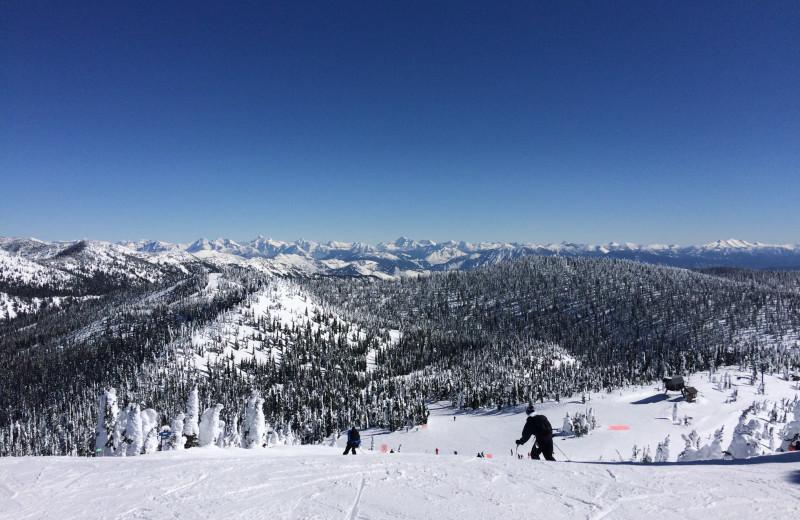 Skiing near The Duck Inn.