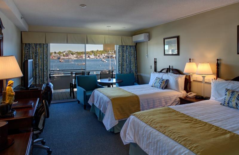 Guest room at Brown's Wharf Inn.