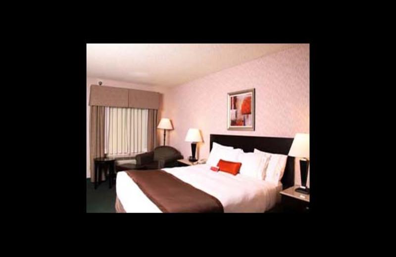 Guest room at Ramada Culver City.