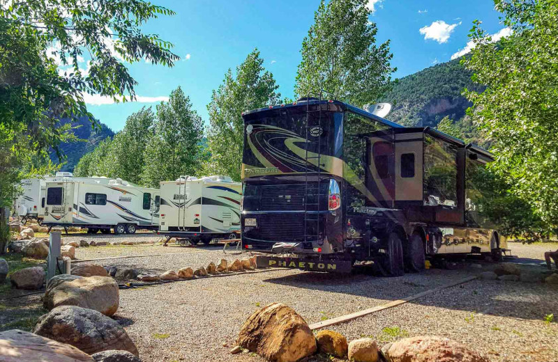 RV camp at Glenwood Canyon Resort.
