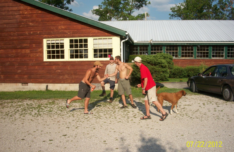 Group at Pinecrest Camp Lodge.