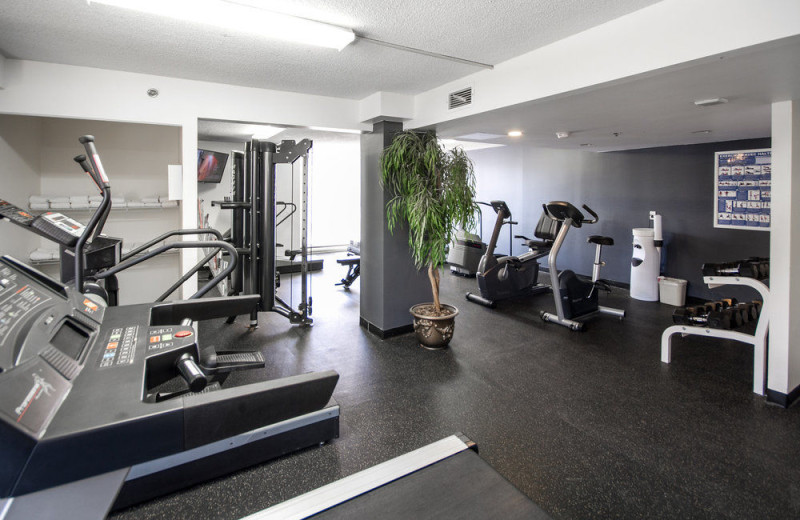 Fitness room at Hotel Faubourg Montreal Downtown.
