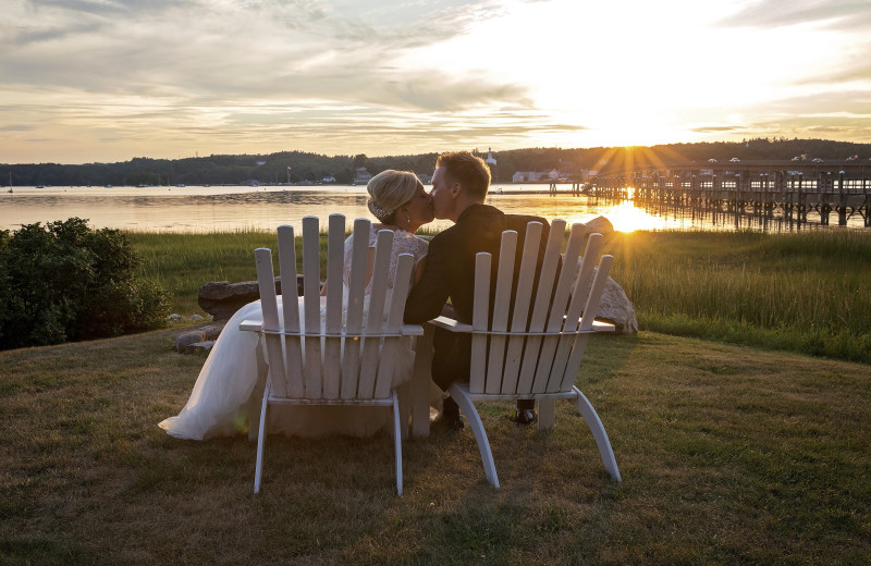 Couple at Sheepscot Harbour Village & Resort.