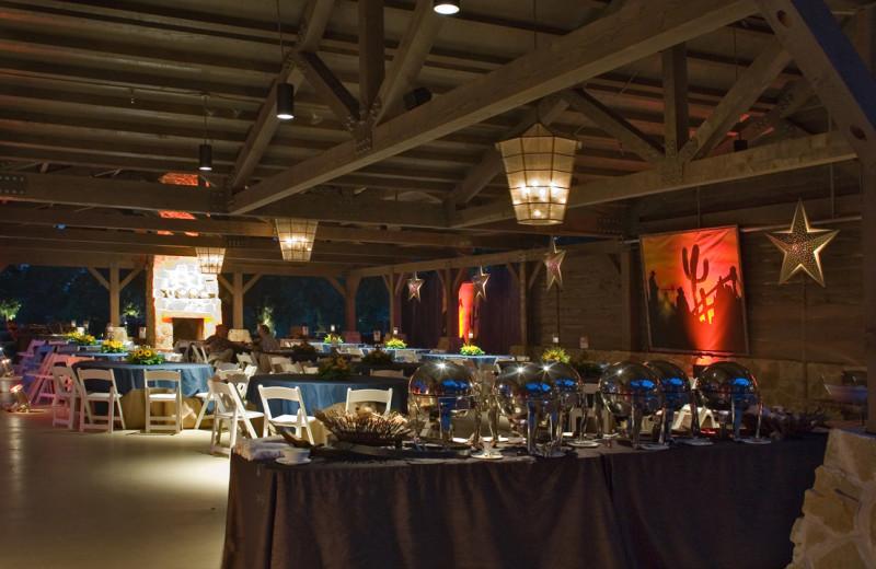 Pavilion dining at Hyatt Regency Lost Pines Resort and Spa.