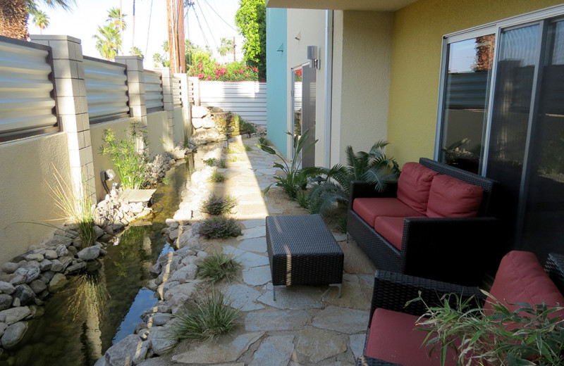 Outdoor porch at Random Haus.