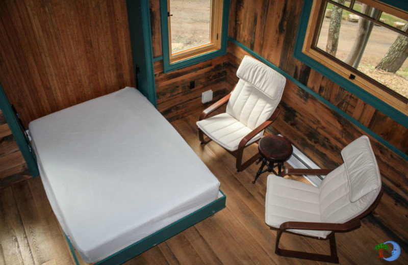 Guest Murphy bed at Blue Moon Rising.