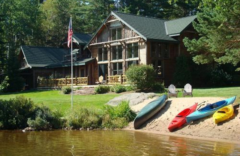 Exterior View of Camp Wildlife   On Mirror Lake