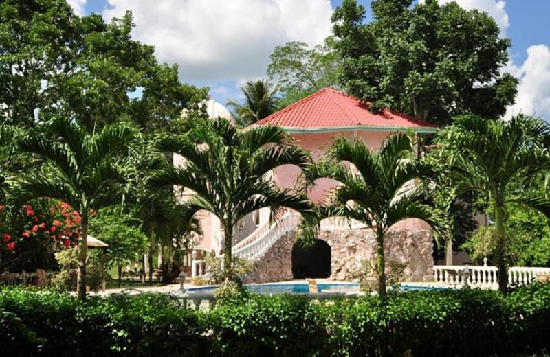 Exterior view of Banana Bank Lodge.