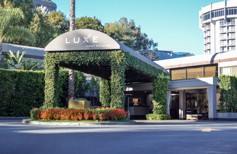 Exterior view of Luxe Hotel Sunset Boulevard.