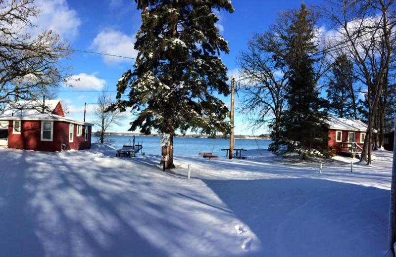 Winter at Tamarac Bay Resort.