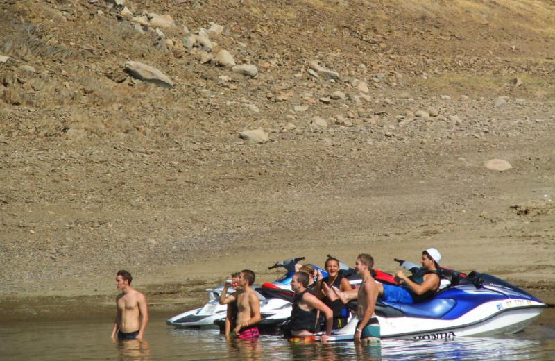 Jet skiing at Lake Don Pedro.