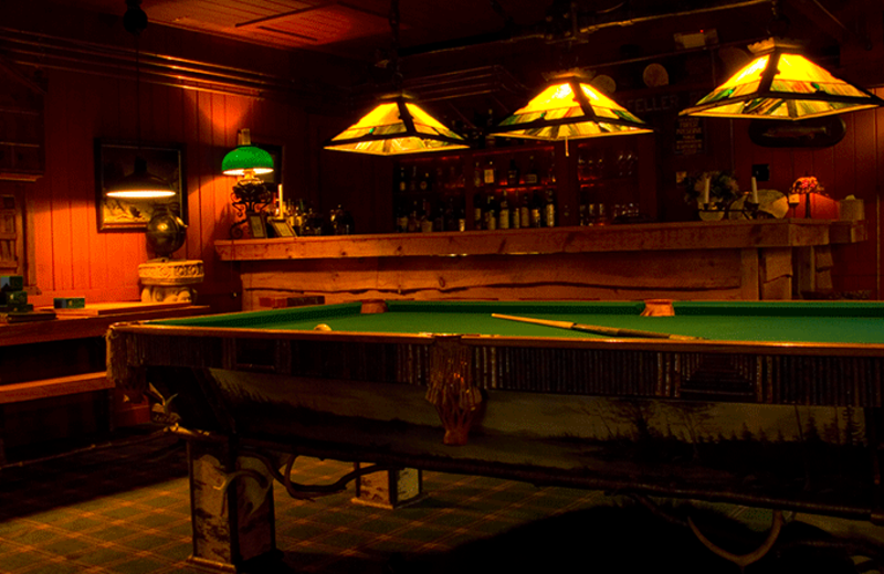Billiard table at The Point.