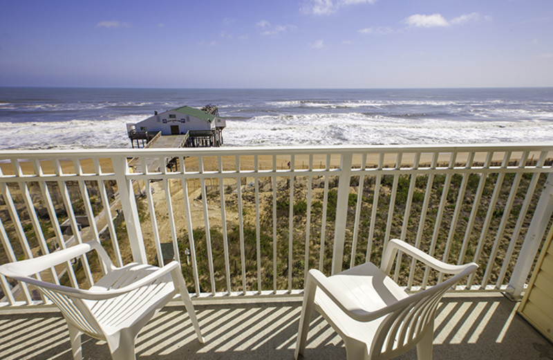 Balcony view at Hilton Garden Inn Outer Banks.