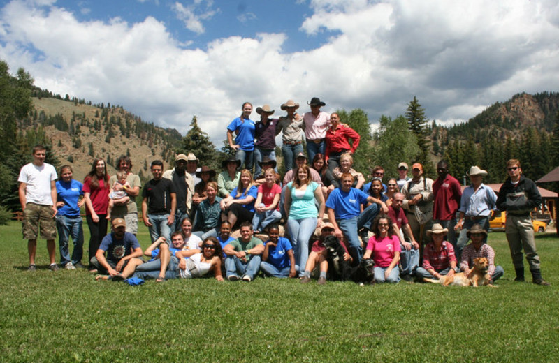 Group at Harmels Ranch Resort.