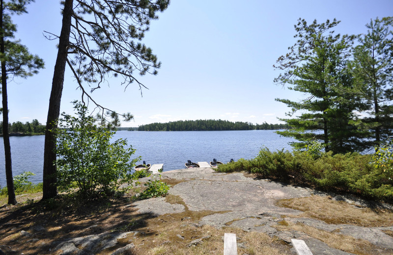 Easy access to the French River from Chaudiere Lodge