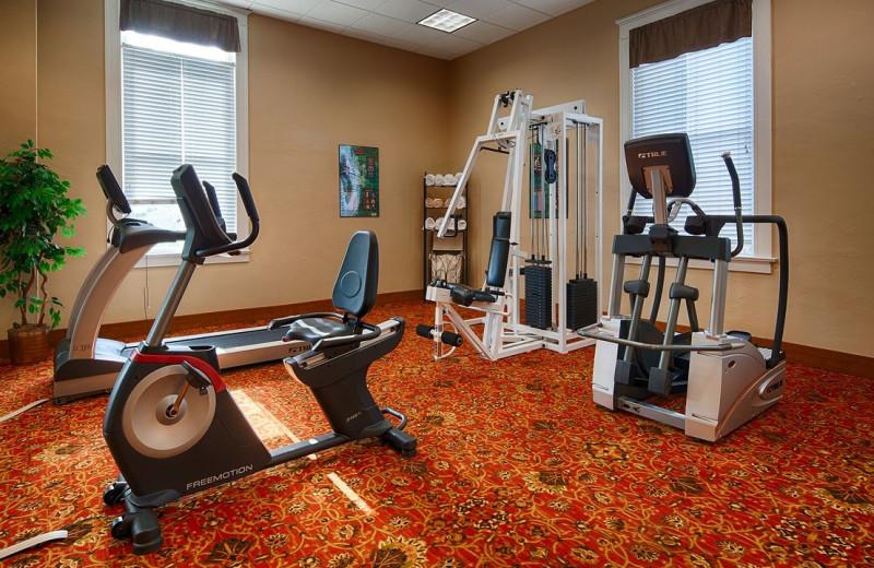 Fitness room at Best Western Plus Sunset Suites Riverwalk.