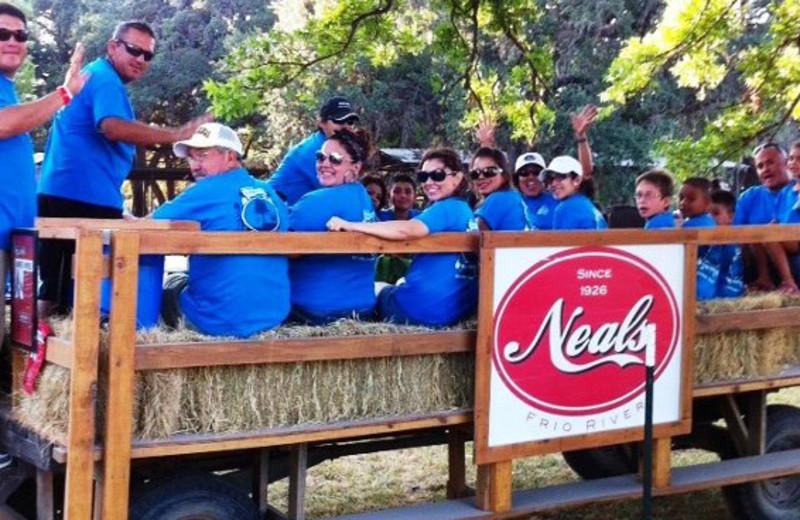 Hayrides at Neal's Lodges.