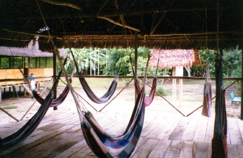 Hammocks at Loving Light Amazon Lodge.