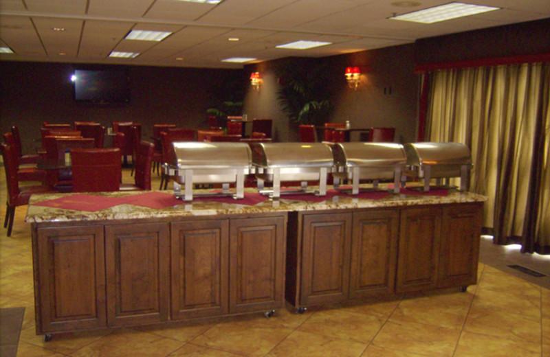 Breakfast buffet at The Best Western Abbey Inn Hotel.