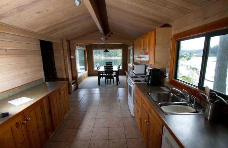 Cottage kitchen at April Point Lodge and Fishing Resort.