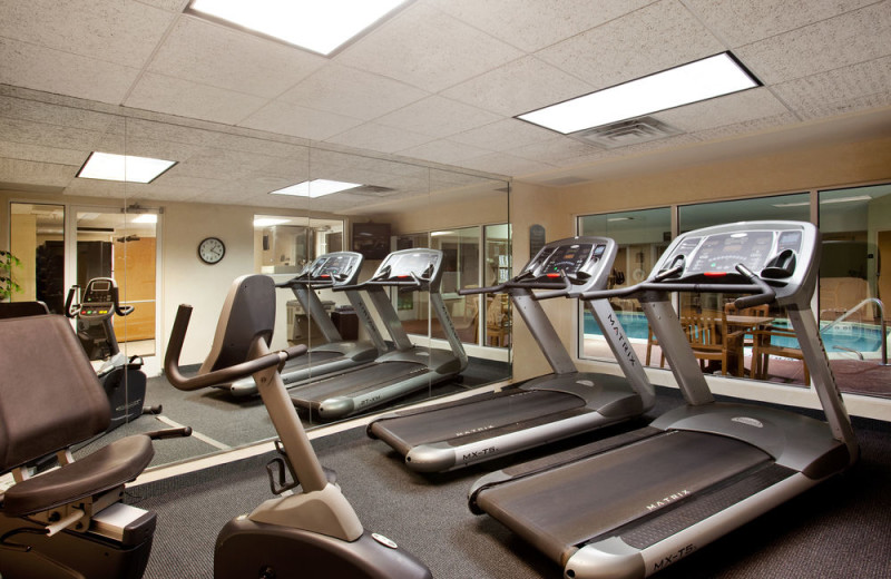 Fitness room at Holiday Inn Express Hotel & Suites - St. Joseph.