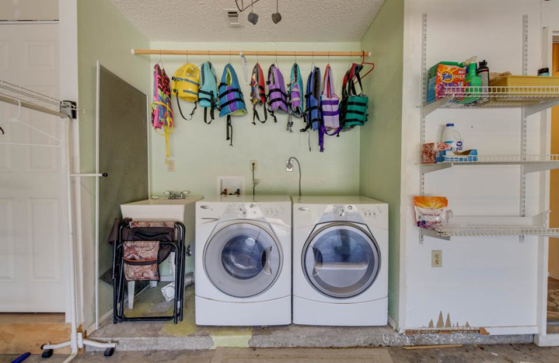 Laundry room at Paradise Landing Texas.