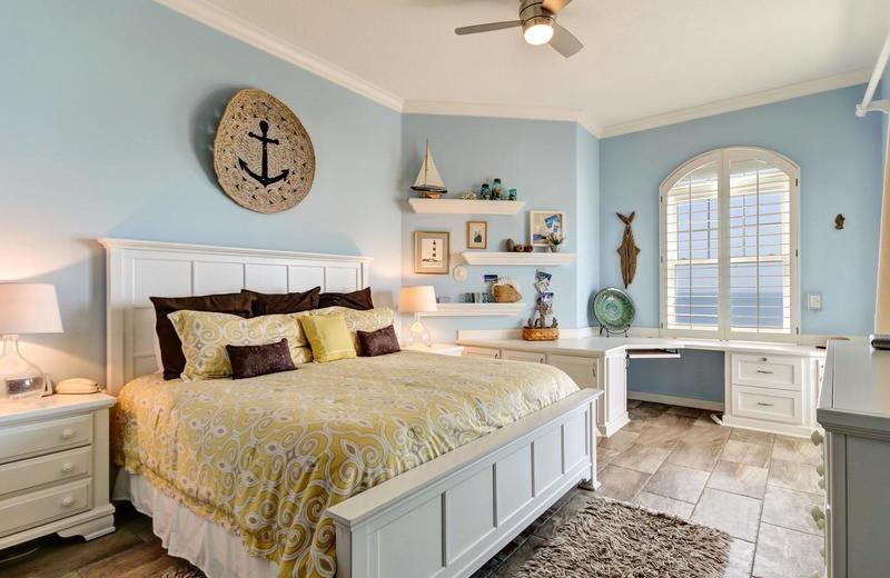 Rental bedroom at Beach Vacation Rentals.