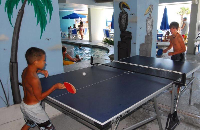 Ping pon table at Paradise Resort.