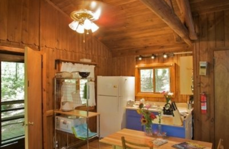 Cottage kitchen with all the comforts of home at Montfair Resort Farm