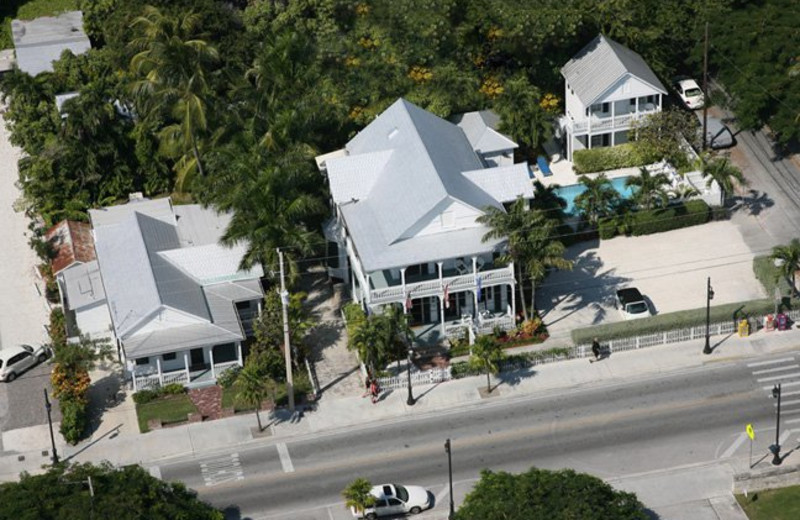 Aerial view of Conch House Heritage Inn.