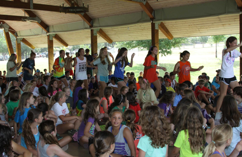 Groups at Camp Balcones Spring.