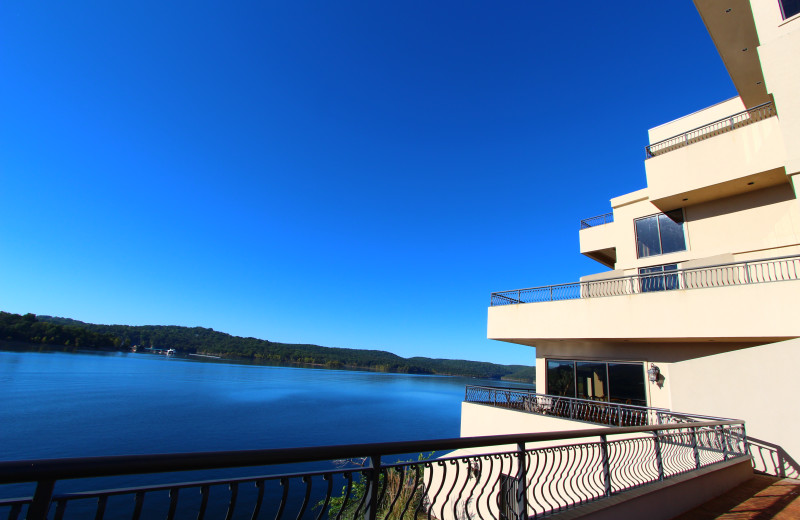 View of the lake at D'Monaco Luxury Resort.