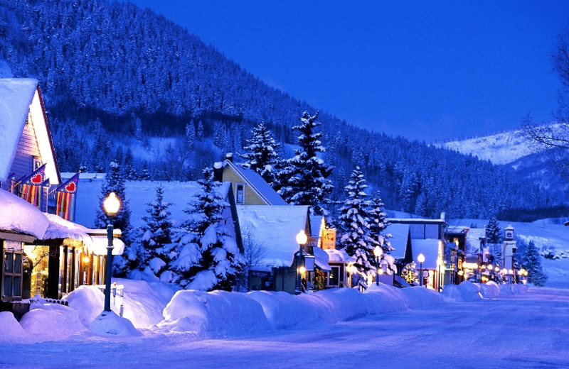 Winter time in Crested Butte near The Nordic Inn.
