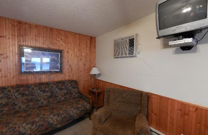 Cabin Living Area at Janetski's Big Chetac Resort