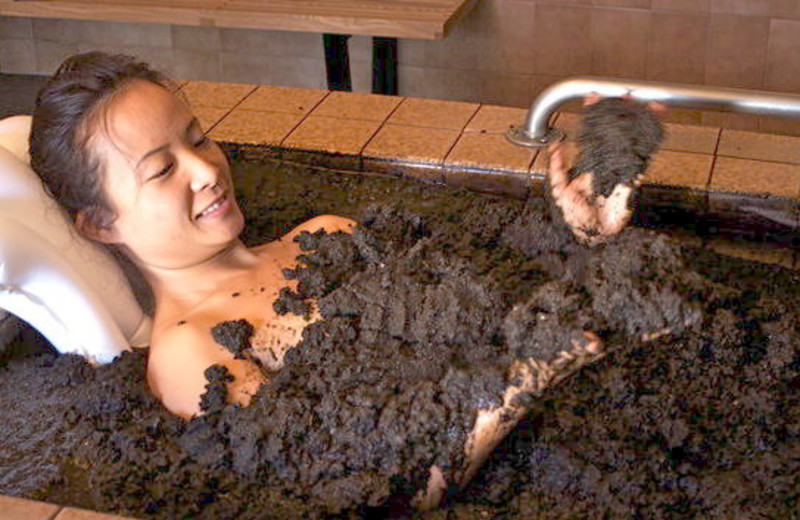 Mud bath at Roman Spa Hot Springs Resort.