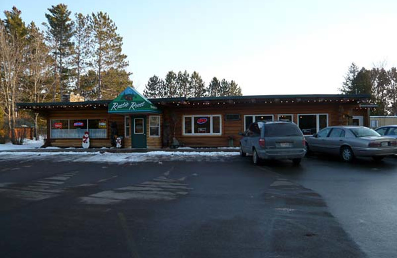 Exterior view of Rustic Roost Motel Dining.