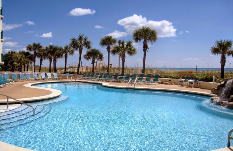 Outdoor pool at Jade East Towers.
