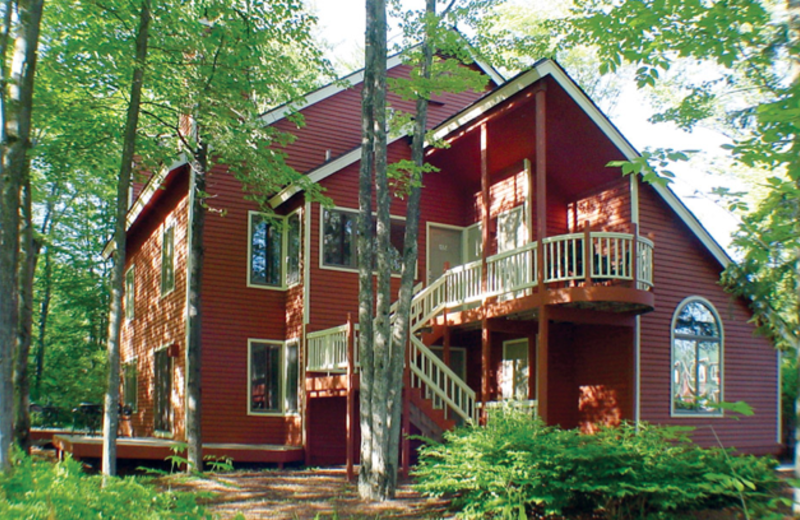 Cottage exterior at Crystal Mountain Resort and Spa.