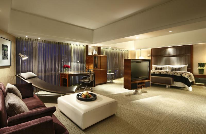 Guest room at InterContinental Shanghai Pudong.