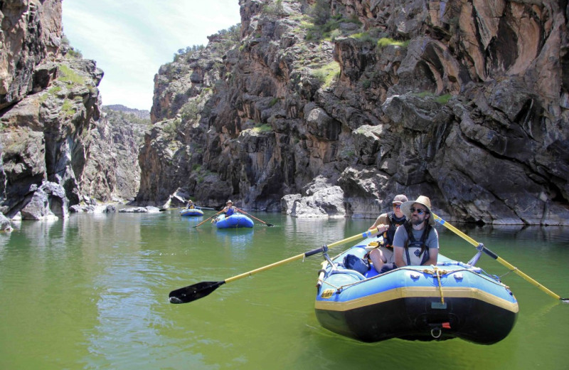 Rafting at Chipeta Solar Springs Resort.
