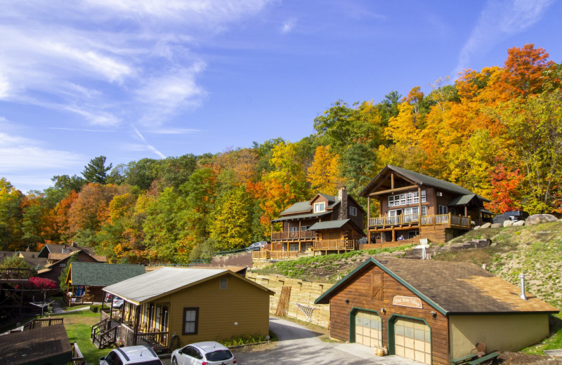 Exterior view of Trout House Village Resort.