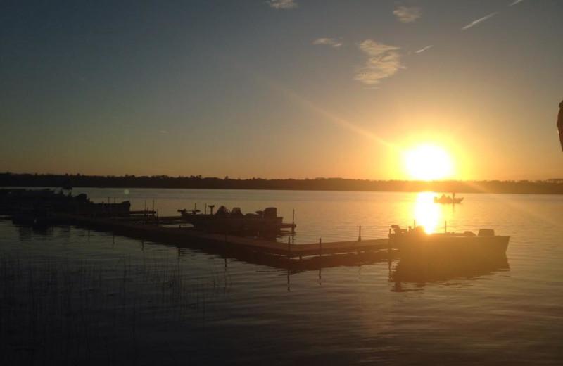 Sunset at Sandy Pines Resort.
