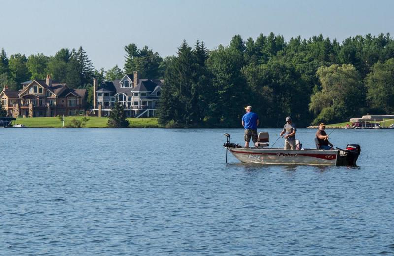 Fishing at Railey Vacations.
