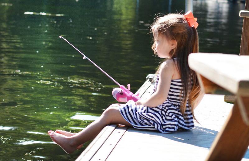 Fishing at Taylor-Made Deep Creek Vacations.
