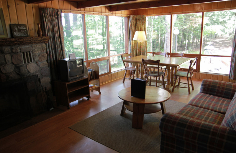 Cabin interior at Holiday Acres Resort.