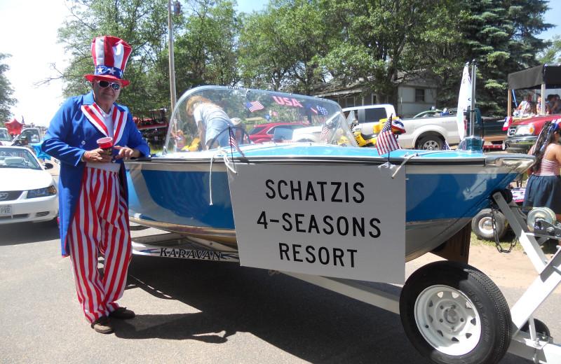 Holiday parade at Schatzi's 4 Seasons Resort.
