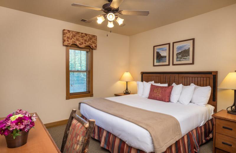 Guest bedroom at Westgate Branson Woods Resort.